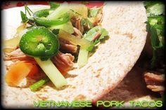 Slow cooker Vietnamese pork tacos!