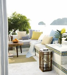 OUTDOOR LIVING | Tan Tan Fabric by Jim Thompson No.9 | Jane Clayton