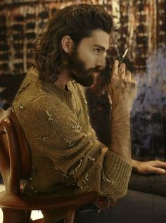 Robart Bard (Robert and Christopher's father) - Maximiliano Patane Hair And Beard Styles, Curly Hair Styles, Beard Boy, Men Beard, Long Hair Beard, Handsome Bearded Men, Beard Lover, Hipster Man, Model Face