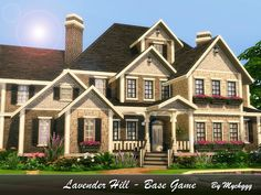 Lavender Hill is family Suburban house built on 40x30 lot in Oasis Springs.  Found in TSR Category 'Sims 4 Residential Lots'