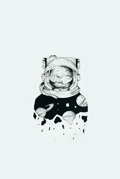 Good idea for a starting piece on a sleeve Space Drawings, Art Drawings Sketches, Tattoo Sketches, Cool Drawings, Tattoo Drawings, Astronaut Tattoo, Alien Tattoo, Sketch Tattoo Design, Tattoo Designs