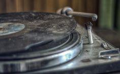 En gran plano Retrô Gramophone record