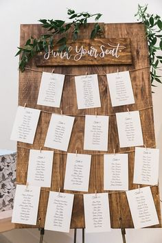 Wedding Day This eye-catching seating chart is perfect for a rustic wedding❤️ Photo Credit: Samantha Ong Photography - Samantha Ong was on hand for Kate and Kyle's Elora Mill Wedding to photograph the couple's lovely day! See the photos here. Rustic Wedding Photos, Rustic Wedding Signs, Wedding Table, Fall Wedding, Diy Wedding, Wedding Events, Dream Wedding, Rustic Wedding Decorations, Rustic Wedding Seating