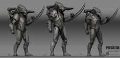 ArtStation - The Predator Predator Killer Sketches, Kyle Brown Armor Concept, Concept Art, Aliens Colonial Marines, Character Art, Character Design, Predator Alien, Alien Races, Alien Art, Fantasy Warrior
