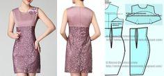 Patrón para vestido corte imperio con pinza manga sisa