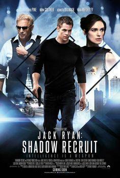 Jack Ryan: Shadow Recruit. Película de espías, con la particularidad que promete más diálogo. Un reboot de una franquicia no tan popular pero que brinda entretenimiento y punto. No se complica en su trama, la escena que si me resulto risible fue la última.