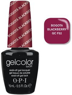 GelColor by OPI Soak-Off Gel Laquer nail polish - Bogota Blackberry - GC F52-so I can remember what color i liked
