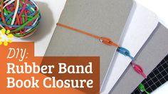 DIY Rubber Band Book Closure | Sea Lemon