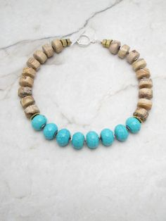 Statement Necklace.Big Bold Necklace.Turquoise Necklace.Chunky Statement.Statement Turquoise.Bohemian Necklace.Boho Necklace. MAGIC HOUR