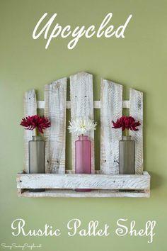 Upcycled Stylish Rustic Pallet Shelf