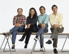Jason Alexander as George Costanza, Julia Louis-Dreyfus as Elaine Benes, Jerry Seinfeld as Jerry Seinfeld, Michael Richards as Cosmo Kramer