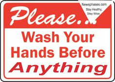 Why You Should Wash Your Hands Before Anything