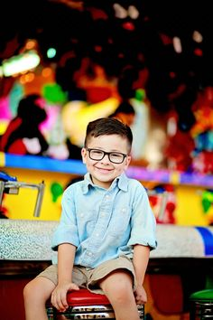 Shots of the each boy by himself on the midway game  stools. Love the color in background!  Photo credit: Brandi Sisson Photography https://www.facebook.com/shuttersnapatl/