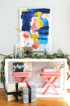 Burlap and Lace: DIY Ornament Garland
