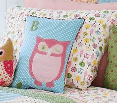 I love the alphabet mixed with the pattern and owl
