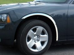 CHARGER 2006-2010 DODGE (4 piece set: Wheel Well Fender Trim Molding - Stainless Steel, imported, Clip on or screw in.) WZ46910