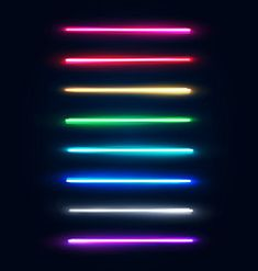 Neon light tubes set halogen or led light lamps vector Black Background Images, Background Vintage, Lights Background, Neon Tube Lights, Blue Neon Lights, Neon Wallpaper, Rainbow Wallpaper, Neon Backgrounds, Aesthetic Backgrounds