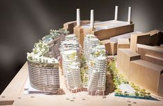 Memo From London: New Builds   Gehry Partners and Foster+Partners have unveiled their designs for residential and retail unit flanking a new boulevard leading towards the power station. #design #interiordesign #interiordesignmagazine #architecture #london