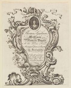 Thomas Graham, Man milliner trade card, Lewis Walpole Library Digital Collection