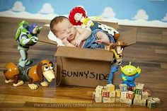 New Born Baby Photography Picture Description Toy Story theme available in our studio. Pregnancy and newborn photographer in North Florida: Jacksonville, Baby Boy Photos, Newborn Pictures, Baby Pictures, Toy Story Pictures, Funny Baby Photos, Newborn Pics, Newborn Care, Newborn Session, Children Photography