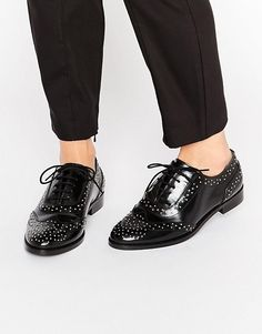 Mazzie Leather Studded Flat Shoe Studded Flats be162ebb2285