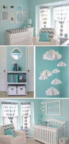 Stylish green nursery for a boy or a girl!