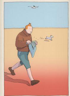 "9emeart: "" Tintin Par Moebius (Jean Giraud) "" Awesome news! Dark Horse will be reprinting a series of Moebius hardcovers next year."