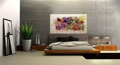 Original Abstract Modern Landscape Painting Palette Knife Modern Art