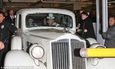 Justin Bieber and Selena Gomez in the Packard Super 8 white