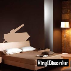 Vinyl Disorder decals are a great way to add a stylistic touch to almost any surface! Car Decals, Vinyl Wall Decals, Military Tank, Bed, Simple, Furniture, Home Decor, Decoration Home, Stream Bed