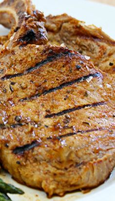 Grilled Pork Chops with Honey