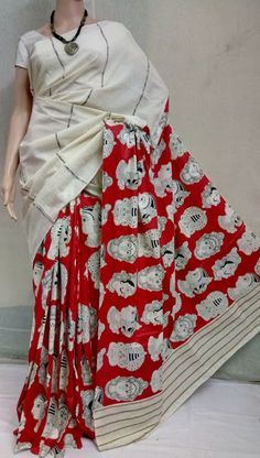 Elegant Fashion Wear Explore the trendy fashion wear by different stores from India Kalamkari Fabric, Kalamkari Dresses, Kalamkari Saree, Elegant Fashion Wear, Trendy Fashion, Latest Saree Blouse, Indian Ethnic Wear, Cotton Saree, Printed Blouse