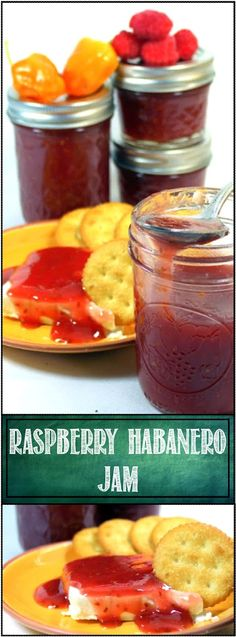 Raspberry Habanero Jam - HOT STUFF - Small Batch Canning... This comes with a warning. HOT STUFF TO EAT and HOT STUFF TO HANDLE. Habaneros are hot. As you slice and trim the peppers be careful to NOT get any oil on your hands. BUT, once you know the warnings, the reward is FANTASTIC. Not a Jam for breakfast but a mixer for soups, chilis, meats, sauces... or as simple as a couple tsp on cream cheese for an EASY FAST Appetizer. CANNING THIS IS EASY EASY EASY!