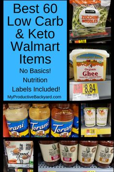 Best 60 Low Carb Keto Walmart Items - My Productive BackyardYou can find Low carb food and more on our website.Best 60 Low Carb Keto Walmart Items - My Productive Backyard Keto Fat, Low Carb Keto, Keto Carbs, Low Carb Diet Plan, Holistic Nutrition, Nutrition Education, Healthy Nutrition, Ketogenic Diet, Recipes