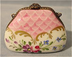 French Limoges Miniature Purse . Click on the image for more information.