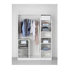 PAX Wardrobe, white, Bergsbo white - standard hinges - 150x60x201 cm - IKEA
