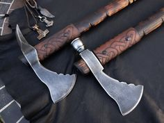 Customized Cold Steel Pipe Axe and Spike Axe.  Checkout our collection of Tomahawks... http://www.osograndeknives.com/store/catalog/tomahawks-129-1.html