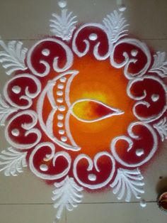 latest Simple Rangoli Designs Images Photos for Diwali 2018 ~ Happy Diwali Images Wishes 2018 Easy Rangoli Designs Diwali, Rangoli Simple, Rangoli Designs Latest, Simple Rangoli Designs Images, Rangoli Designs Flower, Rangoli Border Designs, Small Rangoli Design, Rangoli Patterns, Colorful Rangoli Designs