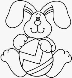 Spring Coloring Pages, Easter Coloring Pages, Coloring Book Pages, Easter Bunny Pictures, Rabbit Pictures, Bunny Drawing, Diy Ostern, Easter Printables, Digi Stamps
