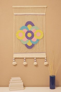 Woven Wall Hanging Mexican Tapestry woven wall