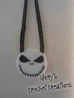 Nightmare before Christmas Jack Skellington crochet purse.