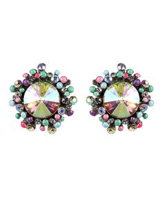 Big sparkly earings pair great with short hair....I love these!!