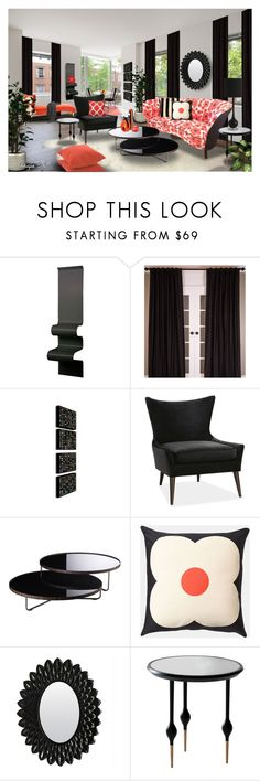 """""""Edie"""" by angiem ❤ liked on Polyvore featuring interior, interiors, interior design, home, home decor, interior decorating, Avenue, Vidame Création, Currey & Company and Modloft"""