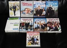 """THE OFFICE DVD Set Seasons 1 2 3 4 5 6 7 & 8 + Script Overtime Collection Series boxed sets PLUS Script and poster of THE OFFICE plus some extras! Everything pictured was adult owned and is in excellent condition. Included are the full seasons 1-8 as well as the additional """"Short Film Collection"""" dvd, 2 different bonus discs, a poster, and some other little inserts and ads #TheOffice"""