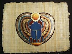 The scarab (dung beetle) was an important symbol in Egyptian mythology, it signifies creation, transformation, renewal, coming into being and everlasting life. The reason for this was because of its association with Kephri, the god of the rising sun. Egyptians believe that every morning Kephri would push the morning sun out of the darkness, into our world, and across the sky. The scarab is associated to this because of the way they would prepare for their young ones.