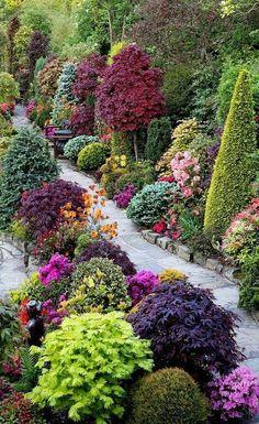 natural stone garden paths, plants, shrubs, flowers and trees – English garden Source Farmhouse Landscaping, Backyard Landscaping, Landscaping Ideas, Landscaping Software, Backyard Ideas, Walkway Ideas, Backyard Patio, Inexpensive Landscaping, Small Gardens