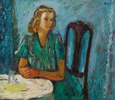 Portrait of a woman - by Charles Eyck (1897 - 1983), Dutch