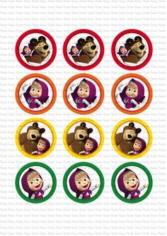 DIGITAL Masha y el oso toppers imprimir por KabooStudioDigitals
