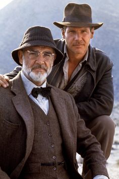 Sean Connery and Harrison Ford in 'Indiana Jones and the Last Crusade' (1989)