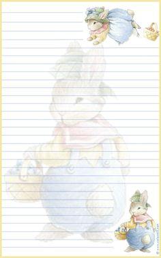 Papier à lettre à imprimer Pâques
